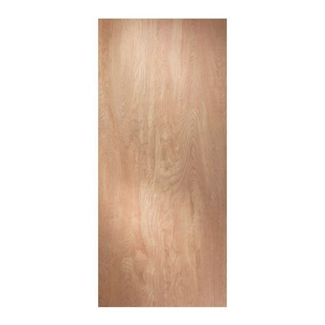 home depot interior wood doors jeld wen 24 in x 80 in birch unfinished flush wood