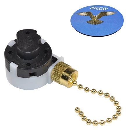 Hqrp Ceiling Fan Pull Chain Speed Wire Control Switch