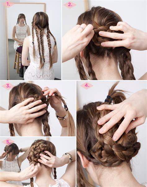 tutorials step by step hair 12 diy braid tutorials great for brides Diy