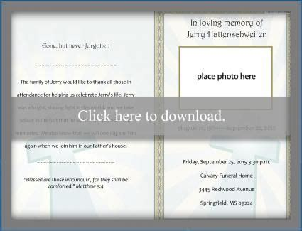 printable funeral program templates program
