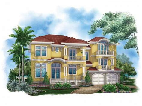 modern mediterranean house plans eplans mediterranean modern house plan caribbean style home 4745 square feet and 4 bedrooms