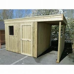 Abri De Jardin Avec Bucher : beautiful abri de jardin toit plat avec bucher pictures ~ Dailycaller-alerts.com Idées de Décoration