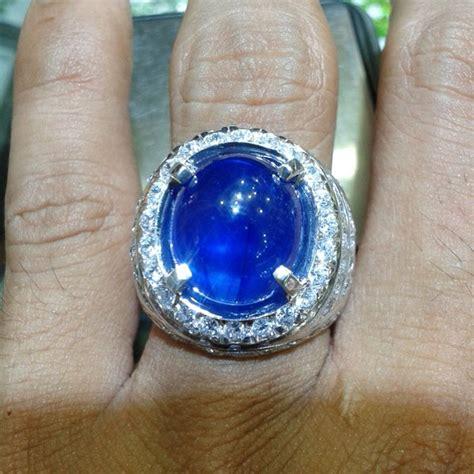 jual cincin pria blue safir afrika pilihan 0121 cincin dan batu batu permata di lapak