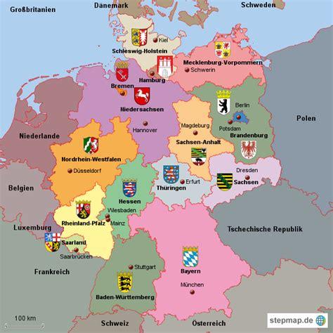 16 Bundesländer Karte