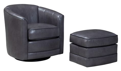 506 swivel glider chair and ottoman set by smith brothers