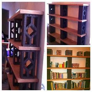 Concrete, Block, Bookshelves