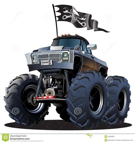 monster trucks races cartoon cartoon monster truck royalty free stock photography