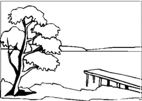 See Mit Steg 2 Ausmalbild & Malvorlage (landschaften