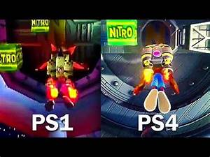 CRASH BANDICOOT Original PS1 VS Remastered PS4 Gameplay