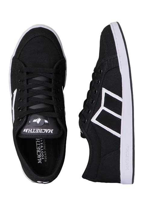 macbeth emerson black white shoes impericon worldwide