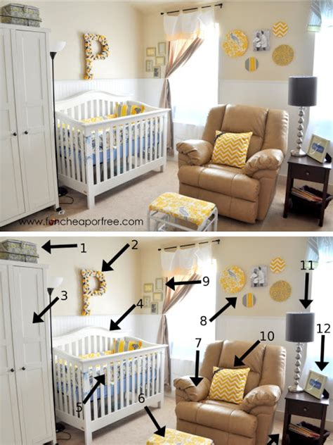 our yellow gray nursery cheap or free