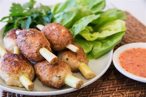 cuisine viet recipe lemongrass prawn skewers as seen at
