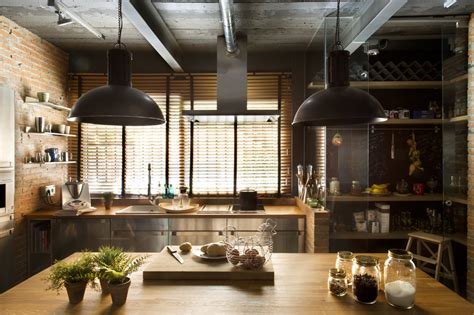 industrial home  interior planting  transparent walls