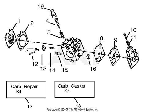 Eater Diagram by Poulan Gbi30v Gas Blower Parts Diagram For Carburetor