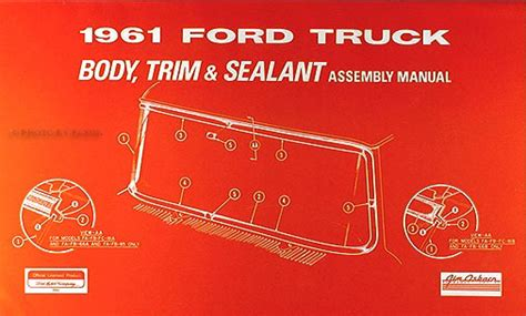 1961 1963 Ford F 100 Wiring Diagram by 1961 1963 Ford 100 800 And Truck Repair Shop Manual