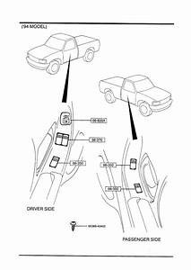Mazda B4000 Switch  Power Window