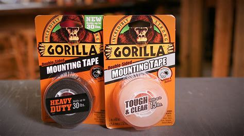 gorilla tough clear mounting tape gorilla glue