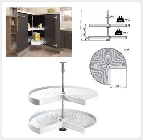 Kitchen Corner Unit Carousel Circle 34 Set Ø710 Or Ø810mm