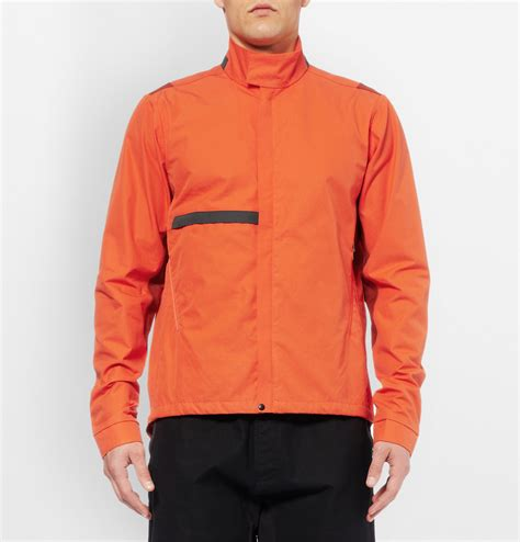 orange cycling jacket paul smith 531 lightweight ventile cotton cycling jacket