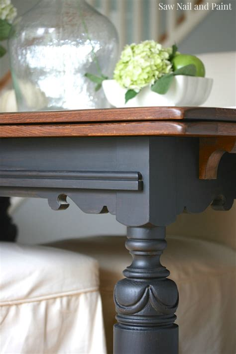 lamp black  java drop leaf table general finishes