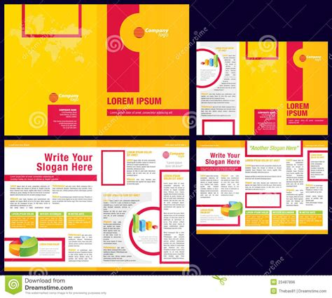 Templates For Flyers And Brochures Free by Vector Business Brochure Tri Fold Flyer Template Royalty