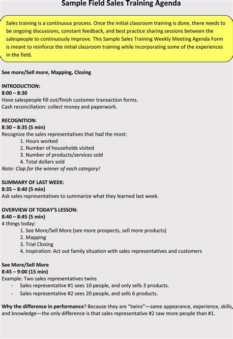 sales meeting agenda templates  meetings