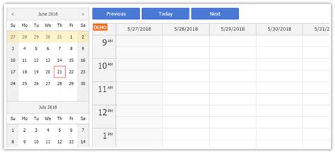 navigator event calendar daypilot documentation