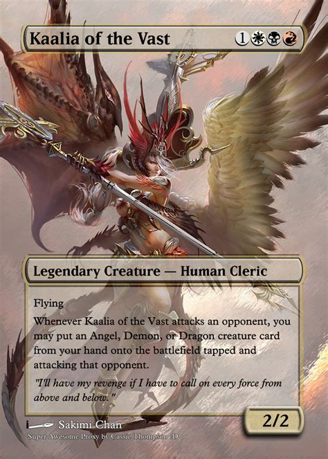 Kaalia Of The Vast Commander Deck 2017 by Kaalia Of The Vast By Itsfish3 On Deviantart