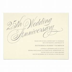 25th anniversary invitations anniversary party With 25th wedding anniversary invitations quotes