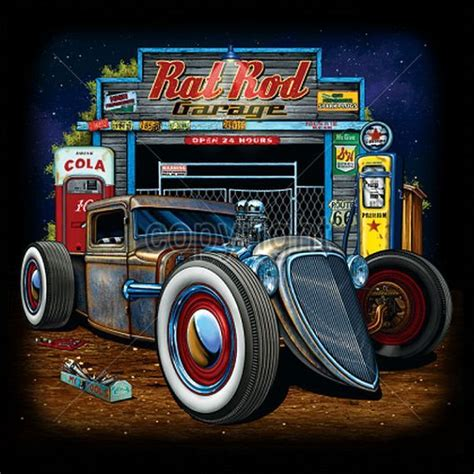 rat rod rod garage t shirt choose shirt color
