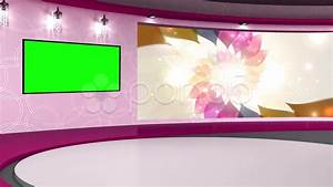 Talkshow TV Studio Set 01 - Virtual Green Screen ...