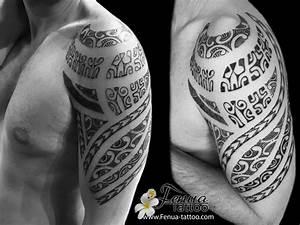 Tatouage Tribal Maorie : tatouage polynesien tribal et maorie bras paule ~ Melissatoandfro.com Idées de Décoration