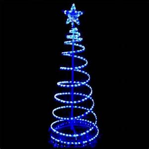 Outdoor LED Blue and White Rope Light 3D Spiral Christmas ...