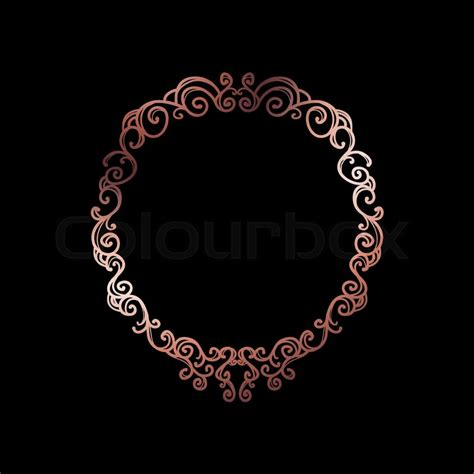 decorative rose gold frame  stock vector colourbox