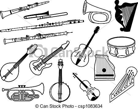 Cat Pop Art Download Free Vector Art Stock Drawing Of Musical Instruments Collection Of Musical Instrument Icons Csp1083634 Search