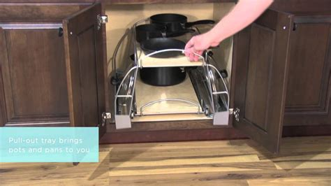 medallion cabinetry pots  pans storage kitchen