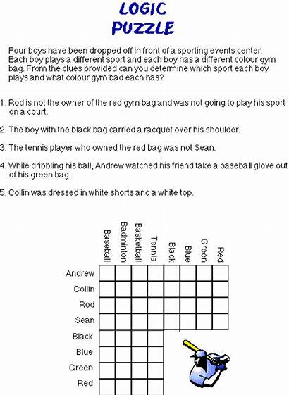 Logic Puzzles Puzzle Brain Sports Easy Math