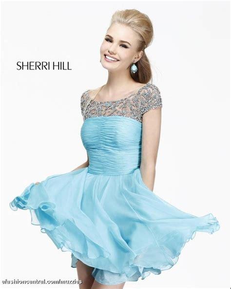 sherri hill light blue dress dress homecoming dress light blue blue blue dress