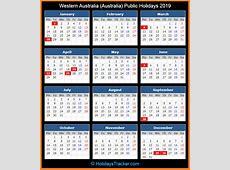 Western Australia Australia Public Holidays 2019
