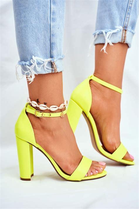 Dámske elegantné sandále v žlto-zlatej farbe s remienkom ...