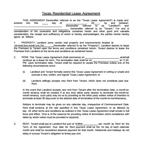 trec residential lease form 12 texas residential lease agreements sles exles