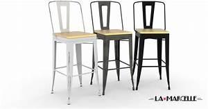 tabouret haut 65 cm bricolage maison et decoration With deco cuisine avec chaise salon pas cher