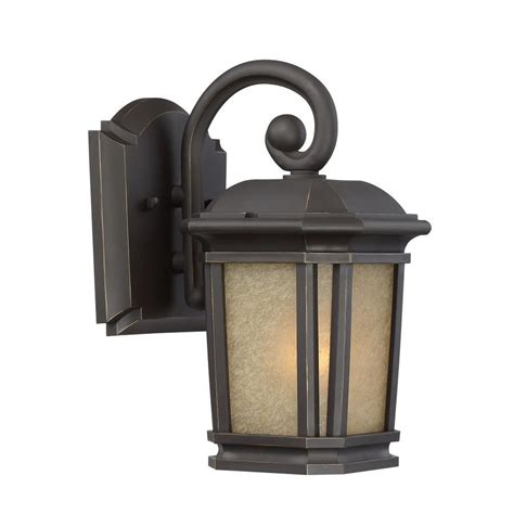 shop quoizel corrigan 11 in h bronze outdoor wall light at