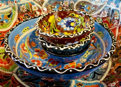 colorful dishes colorful dishes mexico mexican pottery free photo from