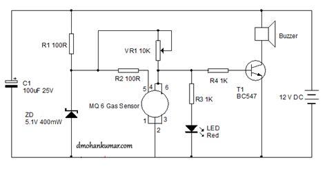 Gas Sensor Circuit Diagram Images