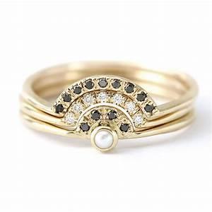 pearl wedding ring set pearl engagement ring with diamonds With pearl wedding ring sets