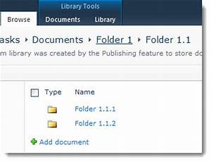 sharepoint document library view with clickable With sharepoint document library hide folders