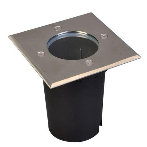 spot encastrable sol carr 233 inox 316 gu10 eclairage design