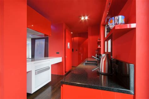 Küche Wandfarbe Rot by Coole K 252 Chen Wandfarbe Gelb Orange Und Rot Archzine Net