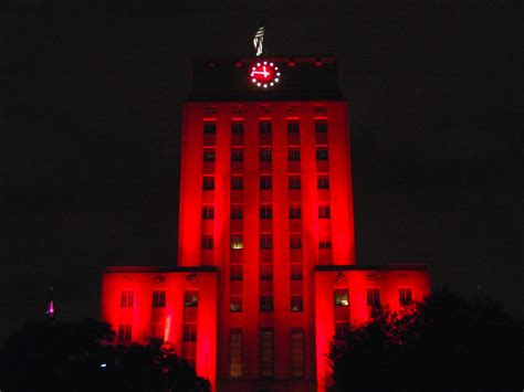 filehouston city hall lit cougar red front closejpg